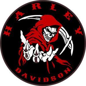 Harley Davidson Grim Reaper sticker decal