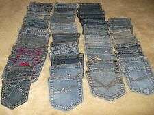 Denim Blue Jean Pockets For Quilting Or Crafts Lot Of 50 From Adult Jeans