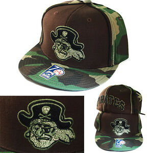 American Needle Pittsburgh Pirates Camouflage Cooperstown Fitted Hat Classic Cap