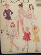 94 McCALLS 7342 Girls Leotard Wrap Skirt Skating Dress & Panties PATTERN 3-4-5-6