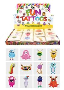 72 Monster Temporary Tattoos (6 Bags Of 12) - Pinata Loot/Party Bag Fillers Kids