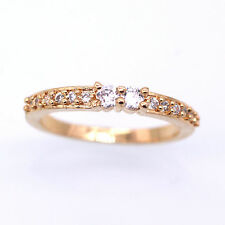 Hot sell!18K Yellow Gold Plated Zircon Wedding Ring Fashion Jewelry Size 7