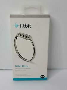 Fitbit Flex 2 Accessory Bangle Silver Small New