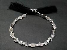 """1 Strand Natural Herkimer Diamond Quartz Faceted Nuggets 5x6-6x7mm 7""""inch Beads"""