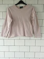 WOMEN'S RALPH LAUREN URBAN VINTAGE RETRO PINK LONG SLEEVED T SHIRT TOP LARGE