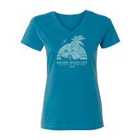 2019 Cruisin Ocean City official car show t-shirt women cobalt blue v-neck