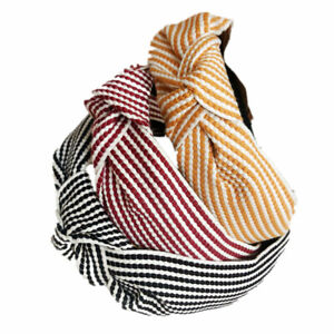 Women's Fabric Tie Hairband Headband Twist Knot Cross Hair Hoop Band Accessories