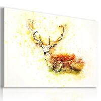DRAWING DEER  Animals PRINT Canvas Wall Art Picture  AN322 MATAGA
