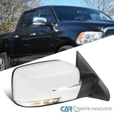 For 09-12 Dodge Ram 1500 Chrome Power Heat Right Side Mirror LED Signal+Puddle