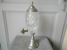 1960s Vintage French Cutted Glass ABSINTHE FOUNTAIN