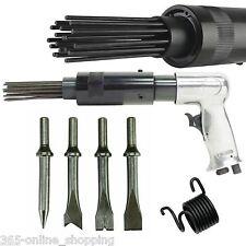 150mm AIR HAMMER DRILL GUN + 4 x CHISELS + 19 NEEDLE DESCALER PAINT RUST REMOVER