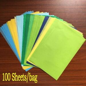 A5 Wrapping Papers 100sheet Retro Print Bookmark Gift Packaging Material Tissue