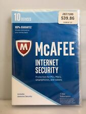 MCAFEE INTERNET SECURITY 2017 10 Devices 1 Year Subscription MIS17ESA0RAA