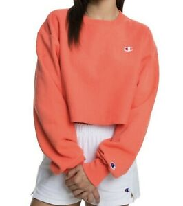 Champion Reverse Weave Cropped Cut Off Crewneck Sweatshirt