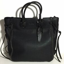 Coach 33916 Leather Tatum Whiplash Tall Tote Black $695 NWT