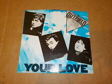 """THE OUTFIELD """"Your Love/61 Seconds"""" Vinyl 45 Record in Picture Sleeve Rare!"""