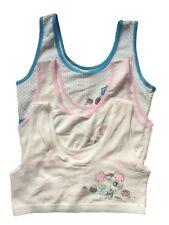 Teen Girls First Cotton Crop Top Bra, 3 Pack (mixed colour). fit 9-16yrs.