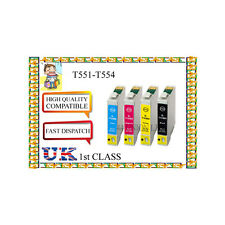 12  INK CARTRIDGES  FOR  EPSON Printer  E-551 E-552 E-553 E-554 NONORIGINAL