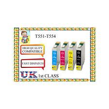 12  INK CARTRIDGES  FOR  EPSON Printer  E-551 E-552 E-553 E-554 NONORIGINAL