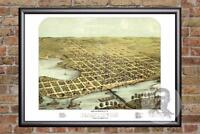 Vintage Hastings, MN Map 1867 - Historic Minnesota Art Old Victorian Industrial