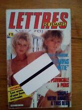 magazine LETTRES DE FEMMES  vintage couple erotic curiosa french N°20 1986