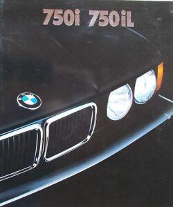 Prospekt  BMW 7er E32 2/88 750i/750iL  -  Übergröße