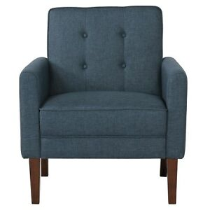 Joyce, Accent Arm Chair Button Tufted Fabric 4 Colours Beige, Blue Grey or Red