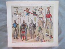 Vintage Print,DE GUERRE,JOUTE TOURNOR,HAUTS,Costume,Historique,1888,Racinet