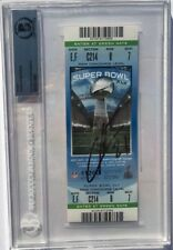 CHARLES WOODSON SIGNED AUTOGRAPHED SUPER BOWL XLV FOOTBALL TICKET BECKETT BAS