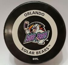 1999-01 ORLANDO SOLAR BEARS OFFICIAL IHL Hockey GAME PUCK  InGlasCo