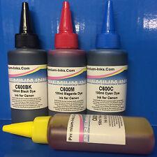 4x100ml Printer Refill INK for Canon Pixma MG 5751 5752 5753 5754 6800 6850 6851