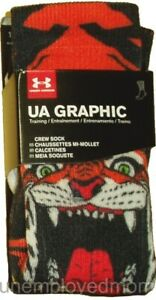 Under Armour Tiger Socks Graphic Crew Sports Athletic Sportswear Youth Womens