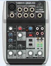 Behringer Q502USB 5-Input 2-Bus Mixer + Warranty