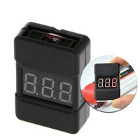 1pc BX100 1-8S Lipo Battery Low Voltage Power Display Tester Buzzer Alarm Black