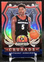 ANTHONY EDWARDS RED WHITE BLUE CRUSADE 2020 PRIZM ROOKIE CARD TIMBERWOLVES RC 📈