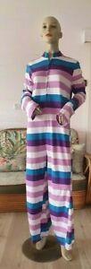 Vintage womens striped coloured jumpsuit size 10 - 12 AUS DBT4