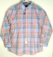 Tommy Hilfiger Mens Slim Fit 17 32/33 Plaid Button Up Long Sleeve Shirt NWT