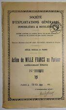GENERAL GRANJAS BIENES RAÍCES & HOTEL 1000 FRS 1932