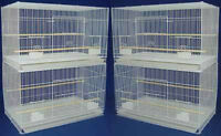 "New Lot of 4 Large Aviary Canary Budgies Breeding Bird Cages 30x18x18""H 357"