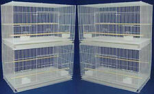 """New Lot of 4 Large Aviary Canary Budgies Breeding Bird Cages 30x18x18""""H 357"""
