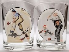 Norman Rockwell Glass The Saturday Evening Post The Chase & Gramps at the Plate