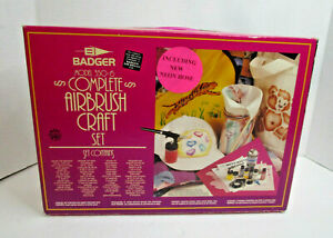 Badger Model 350-6 Complete Airbrush Craft Set Painting Supplies New Sealed