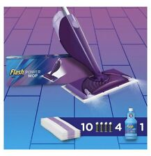 Flash Powermop Starter Kit All-in-One Power mop Cleaning 10 Refills & Solution