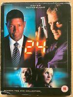 Kiefer Sutherland 24 Season 2 ~ Spy / Action Thriller Series UK DVD Box Set Used