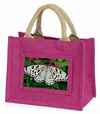 Black and White Butterfly Little Girls Small Pink Shopping Bag Christm, IBU-9BMP