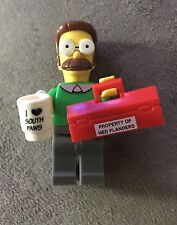 Lego Ned Flanders Minifig Simpsons Series 1 #7 Neighbor Left Hand Store 71005