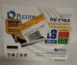 PLEXTOR PX-716A CD DVD RW IDE OPTICAL DISK DRIVE 6X Dual Layer DVD NEW IN BOX