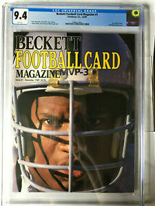 Bo Jackson 🔥 CGC Graded 9.4  1st ever Beckett Maghazine #1 Rare 🔥 White Pages
