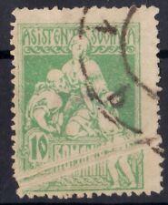 Rumänien 1921 Sozialhilfe VARIETY/ERROR Print Fold gebraucht