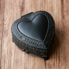 Black Tin Alloy Heart Shape Music Box : Pandora Heart - Everytime You Kissed Me